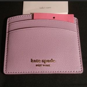 Kate Spade Sylvia Card Case in Orchid NWT